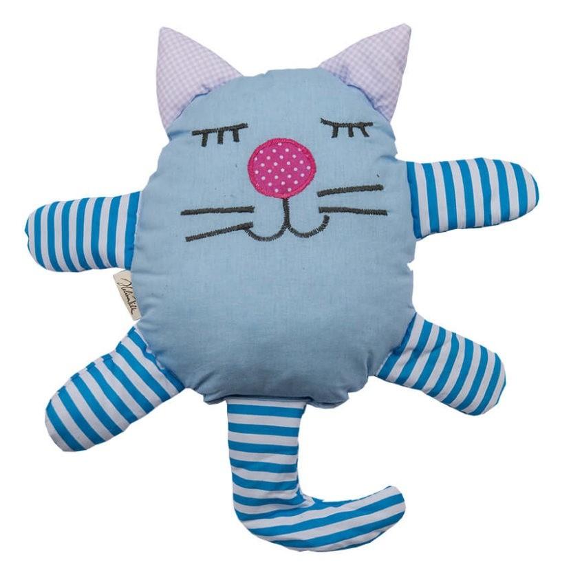 Countrykissen Katze blau