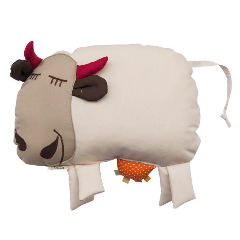 Countrykissen Kuh grau
